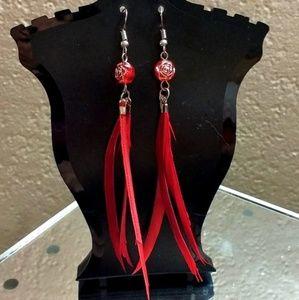 Vintage Cardinal Navjo Earrings